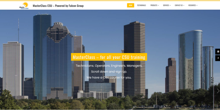 Falcon Group launches a new site for MasterClass CSU training